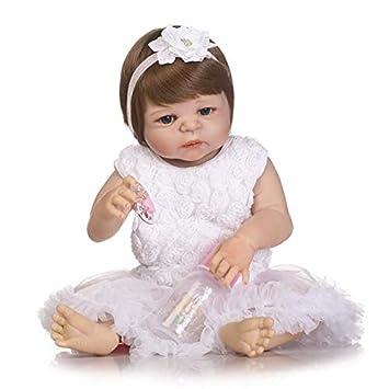 ZMH Bebe Reborn Menina Baby Reborn Muñecas 57 Cm Cuerpo Completo De ...