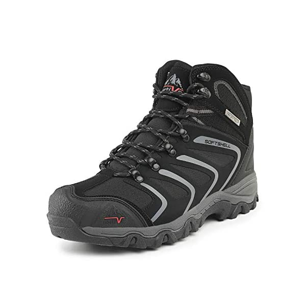 NORTIV 8 Men's Ankle High Waterproof Hiking Boots
