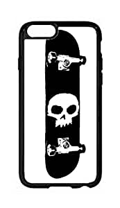 "RainbowSky iPhone 6 Plus (5.5"" Inch) Case - Skull Skateboard Pattern Hard Plastic Back Protection Phone Case Cover -338"