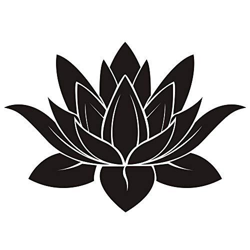 DNVEN 32 inches x 22 inches Black Lotus Flower Hindu Buddha Indian Lotus Yoga Mandala Tribal Wall Vinyl Sticker Decals Decor Art Bedroom Murals (Wall Decal Mandala)