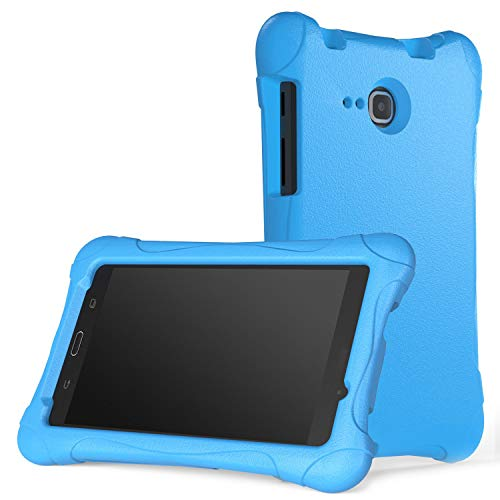 MoKo Samsung Galaxy Tab A 7.0 Case - Kids Friendly Ultra Light Weight Shock Proof Super Protective Cover Case for Samsung Galaxy Tab A 7.0 Inch Tablet 2016 Release (SM-T280/SM-T285 Version ONLY), BLUE