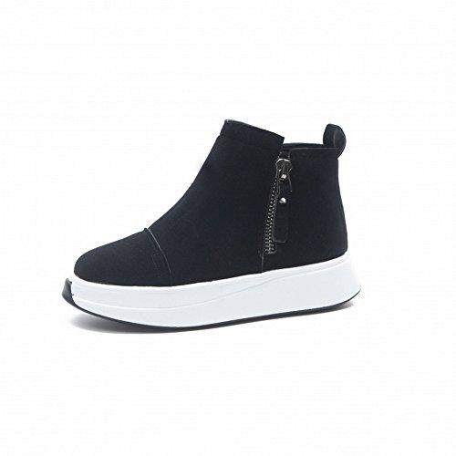 Chaussures Pour Chaussures de 37 la à Femmes Sport Ont Couture Augmenté noir de les Fin EUR Chaussures Haute Des les Rq0wW6