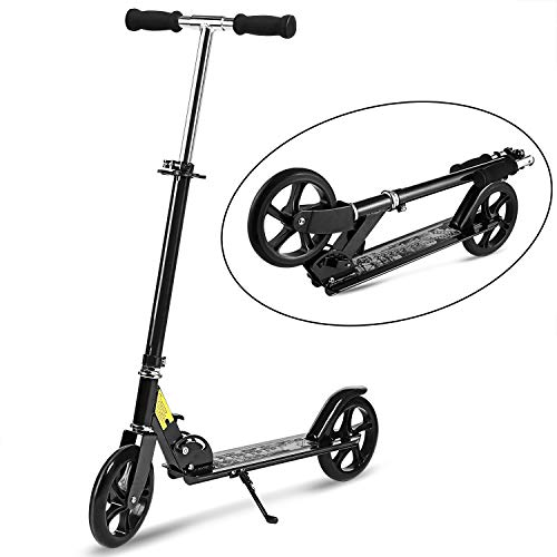 WeSkate Adult Scooter Foldable 3 Levels Adjustable Height 2-Wheel Kick Scooter for Teens Young Women Men Support 100KG(220lbs) Weight