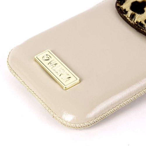NFE² Valenta Edition Echtleder Etui beige - Leopard - für Apple iPhone 3G