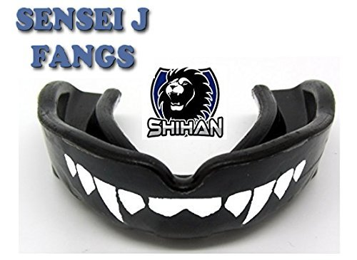 Sensei J Signature Gum Shield 'FANGS-TEETH - Senior , MMA, Rugby, Ufc Wrestling Mouth Guard by Shihan by Shihan