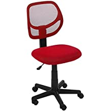 AmazonBasics Low-Back Computer Chair - Red