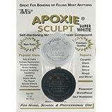 Apoxie Sculpt 1/4 lb. Super White, 2 part modeling compound (A & B)