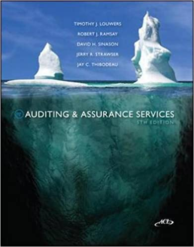 Auditing assurance services 5th edition timothy j louwers auditing assurance services 5th edition 5th edition fandeluxe Gallery