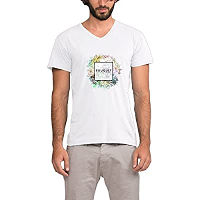 The Chainsmokers Bouquet Roses Man's V-Neck Photo Print T-shirt