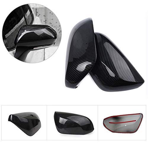 Cocas Side Door Rear View Mirror Cover Trim for Toyota Camry 2018 Carbon Fiber Color