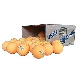 50-Pack KEVENZ 3-Star 40mm Orang Table Tennis Balls,Advanced Training Ping Pong Balls (Practice ping-pong Ball)