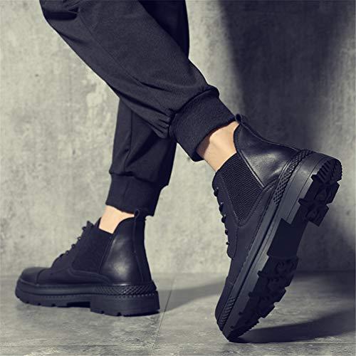 Lacets Montantes Pour Casual Feidaeu Bottes Mode Boots Plateforme UFf1q