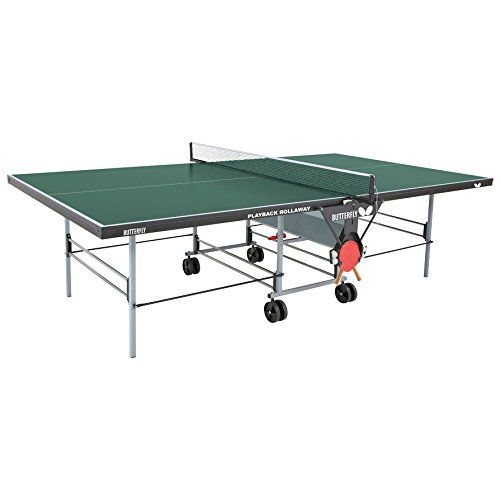 Butterfly playback rollaway table tennis table - Construire table ping pong ...