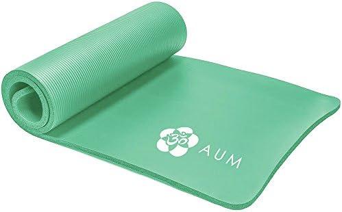 AUM High Density HD Foam Tech Yoga Exercise Mat – 72 x 24 x 1 2 – Aquamarine