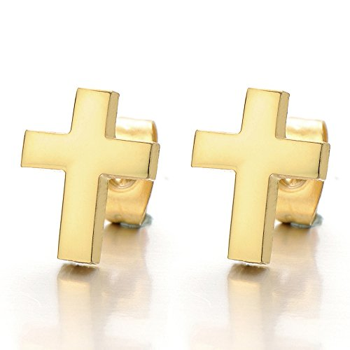 Womens Color Cross Earrings Stainless