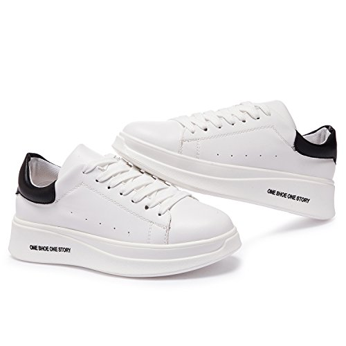 Padgene Baskets Femme Blanche Course Gym Fitness Mode Sport Chaussures Taille 35-40 Blanc