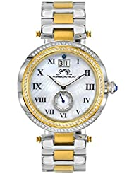Porsamo Bleu South Sea Crystal Stainless Steel Silver Tone & Gold Tone Womens Watch 104FSSC