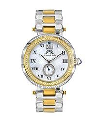 Porsamo Bleu South Sea Crystal Stainless Steel Silver Tone & Gold Tone Women's Watch 104FSSC