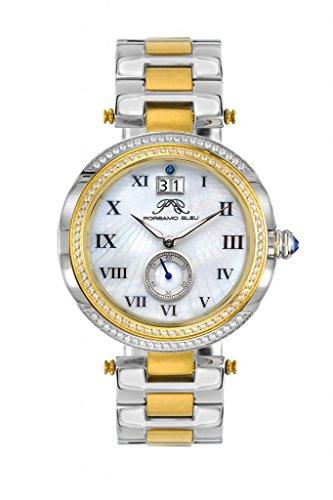 Porsamo Bleu Luxury South Sea Crystal Stainless Steel Silver Tone & Gold Tone Women's Watch ()