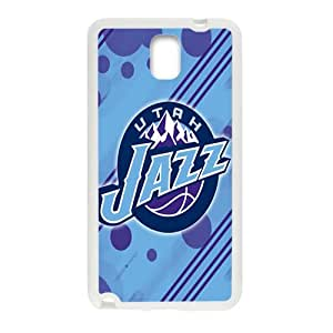 Utah Jazz NBA White Phone Case for Samsung Galaxy Note3 Case