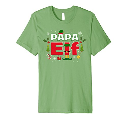 [Mens Papa Elf Legs Funny Christmas Costume T-Shirt Santa Helper Small Grass] (Jolly Green Santa's Helper Christmas Costumes)