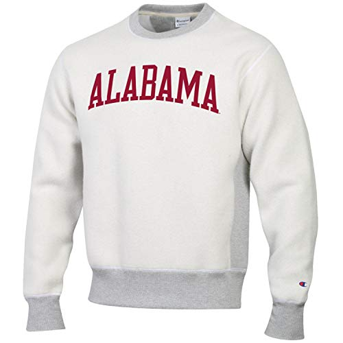 Champion Men's NCAA Inside Out Reverse Weave Crew Sweatshirt-Alabama Crimson Tide-XL