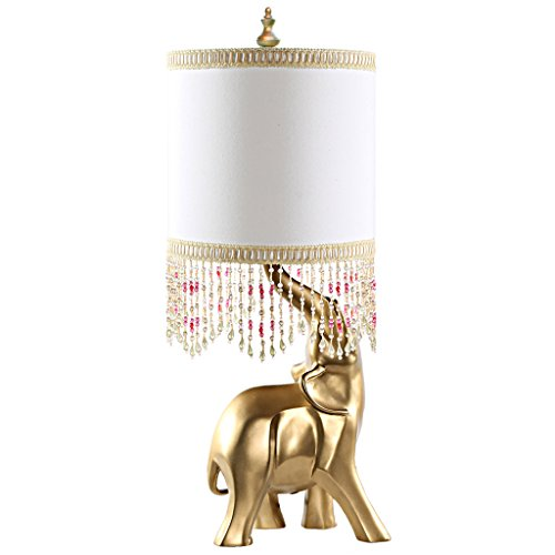 Poetic Wanderlust by Tracy Porter Oro Elephant Beaded Shade and Gold Base Table Lamp (Table Lamps Shades Beaded For Lamp)