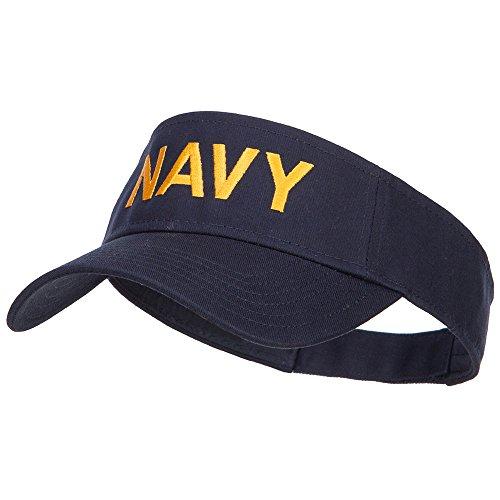e4Hats.com U.S. Navy Embroidered Twill Visor - Navy OSFM
