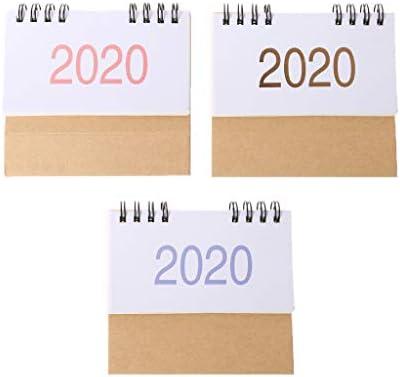 2020 Calendario de doble bobina simple de escritorio de pie de ...