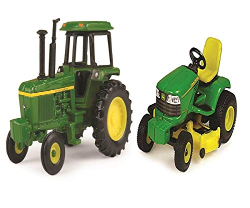 Collect Lawn Tractor - J. Deere Collect N Play Soundguard 1:64 and Lawn 1:64 Tractor Construction Toy Playset - 2.5