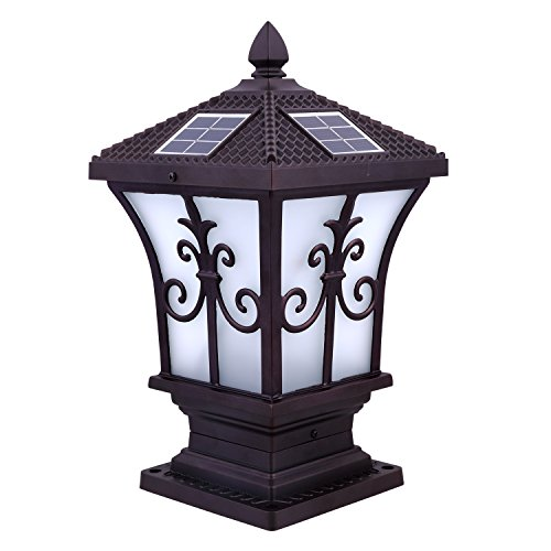 Cnlight Beautiful White Light Rechargeable Solar Lamp, Outdoor Solar LED Light, Wall Mount Lamp, Waterproof Solar Garden Lamp,Street lamp