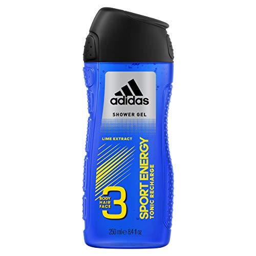 Adidas 3in1 (Body Hair Face) Shower Gel Shampoo Sport Energy 250 ml / 8.4 oz