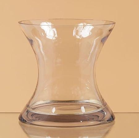 Oddity 79425 8 In X 8 In Hourglass Shaped Glass Vase Amazon