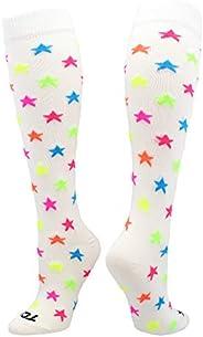 TCK Krazisox Multi-Color Stars (White, Small)