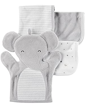 Carter's Baby Boys' 4-Pack Washcloths, Gray