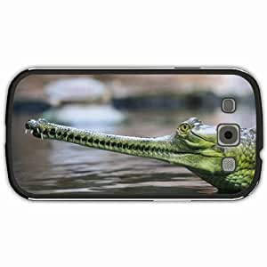 New Style Customized Back Cover Case For Samsung Galaxy S3 Hardshell Case, Black Back Cover Design Gharial Personalized Unique Case For Samsung S3