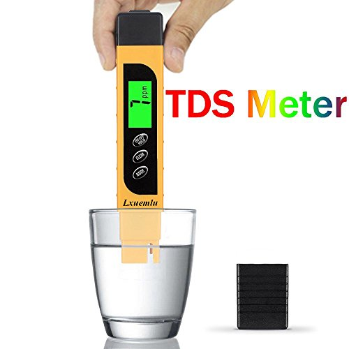 Water Tds (TDS Meter Digital Water Tester, Lxuemlu 3-in-1 TDS, Temperature and EC Meter with Carrying Case, 0-9999ppm, Ideal TDS Test Kit for Drinking Water, Aquariums and More)