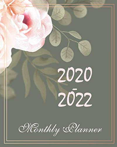 2020-2022 Monthly Planner: Lovely Sakura Flower, Monthly Schedule Organizer For 3 Year Calendar Agenda Planner with Holiday