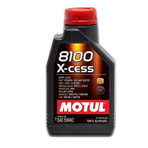 Óleo Motul 8100 5W40 1L XCESS (100% sintético)