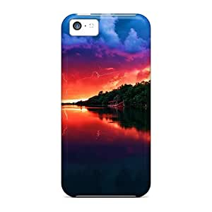 Fashionable Ovk10619ucGY Iphone 5c Cases Covers For Amazing Red Sky Protective Cases