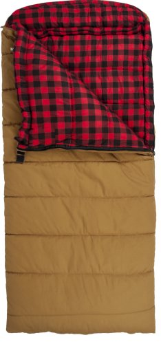Teton Sports Deer Hunter -35 Degree Sleeping Bag, Brown, 90-Inch x 39-Inch, Left Zip, Outdoor Stuffs