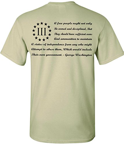 (Patriot Apparel 3 Percenter Them 2nd Amendment Three Percent T-Shirt Design (X-large, ACU Tan))