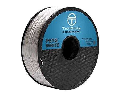 Superior 1 Kg Spool (TechOrbits 3D PETG-1KG1.75-White PETG 3D Printer Filament, Dimensional Accuracy +/- 0.05 mm, 1 kg Spool, 1.75 mm,)