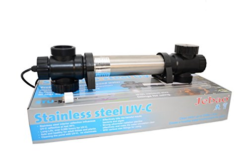 Jebao STU Stainless Steel UVC Clarifier (Koi Pond Glass)