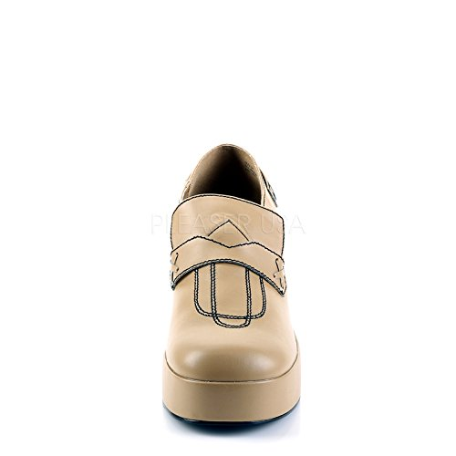 01 1970s Tan Platform Platform Platform 1970s Mens Shoes Loafer n7wqffZg8z
