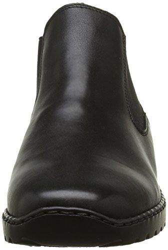 Granit Schwarz 00 Bottes Chelsea Femme L6090 Noir Rieker wxXYqPn0
