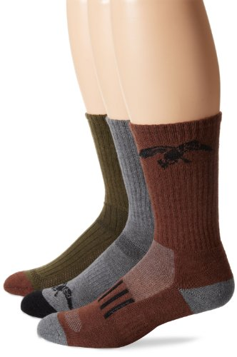 Duck Commander Big Boys' Fear The Beard Crew Socks 3 Pair Pack, Olive Multi, X-Small (Fear The Beard Duck Commander)