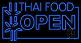 Thai Food Open Clear Backing Neon Sign 20'' Tall x 37'' Wide