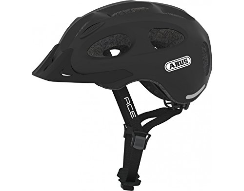 (Abus Youn-I Ace - Lg - 56-61 Bike Helmet, Velvet Black)