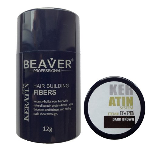 Beaver Professional Keratin Hair Building Fibers 12g (Available in 9 different colors) (Blonde) by Beaver Professional